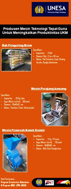 Rak Pengering Brem, Mesin Perajang bawang, Mesin Pemecah Batok Kemiri